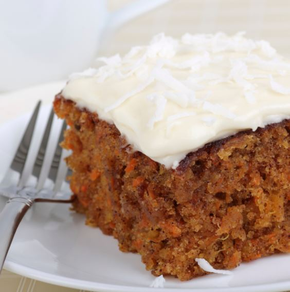 Carrot & Rhubarb Cake with Orange Cream Cheese Frosting