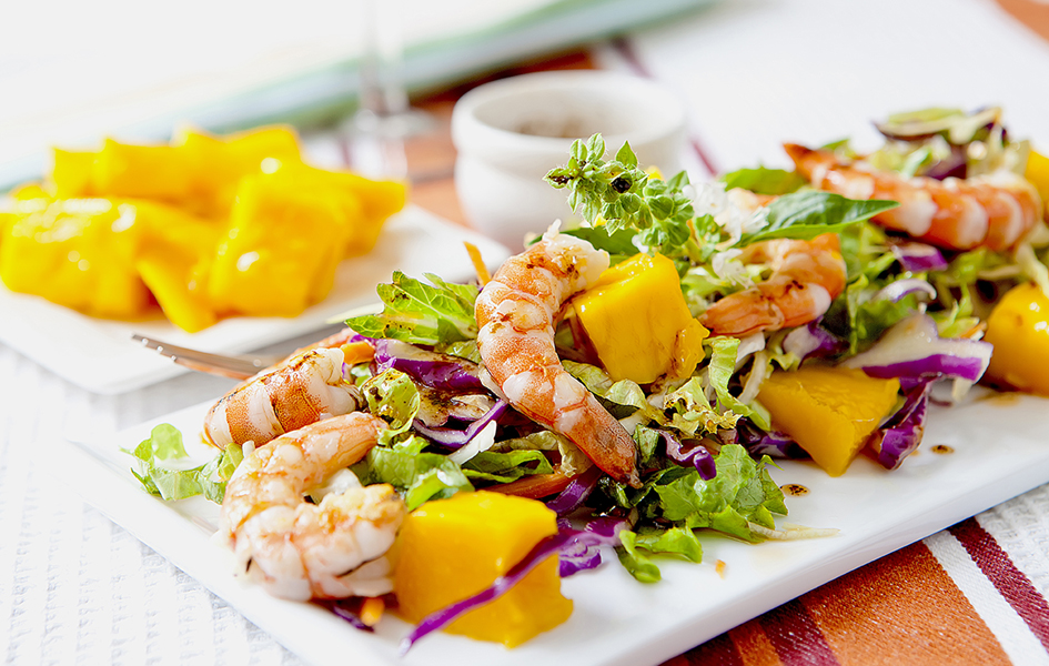 Prawn Mango Salad with a Lime Vinaigrette