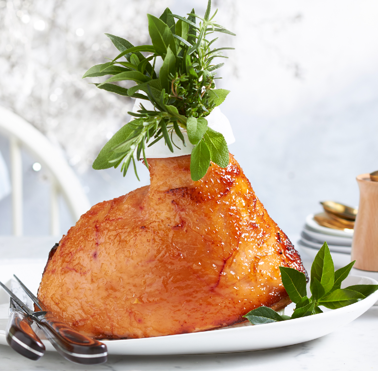 Lime and ginger glazed ham recipe