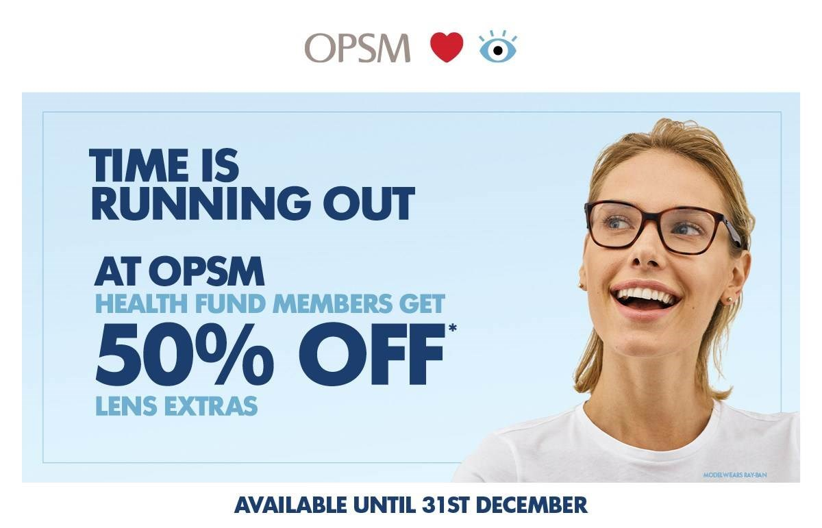 50% off Lens Extras at OPSM