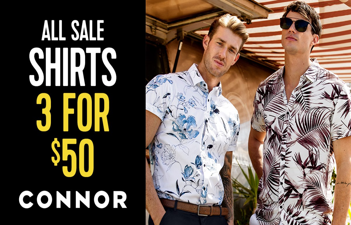 Sale shirts 3 for $50